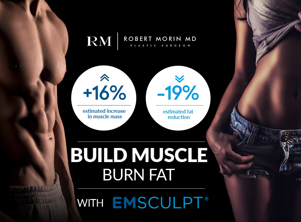 BUILD MUSCLE BURN FAT WITH EMSCULPT