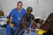 Surgical Mission - Dr. Morin and happy childrens