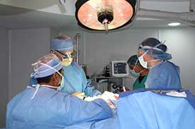 Surgical Mission - Dr. Morin in operation room