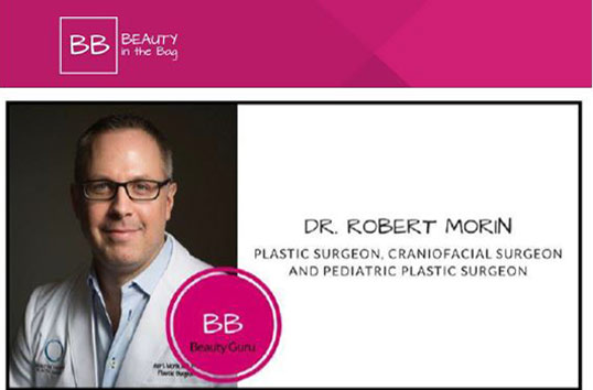 Media - Dr. Morin was featured in Beauty in The Bag.