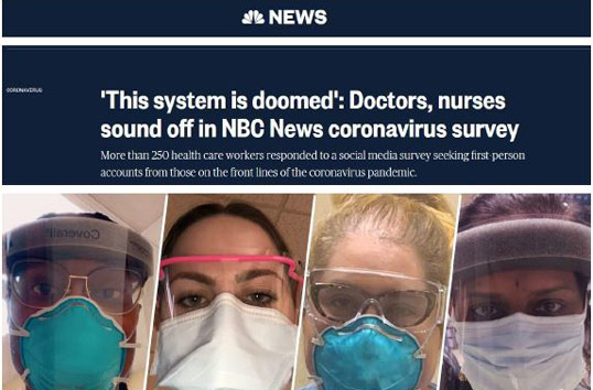 Media - This system is doomed': Doctors, nurses sound off in NBC News coronavirus survey